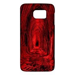 Tunnel Red Black Light Galaxy S6 by Simbadda