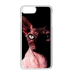 Sphynx Cat Apple Iphone 7 Plus White Seamless Case by Valentinaart