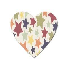 Star Colorful Surface Heart Magnet by Simbadda