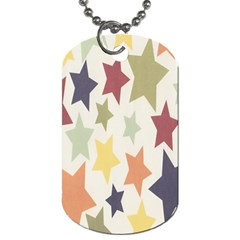 Star Colorful Surface Dog Tag (two Sides)