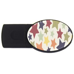 Star Colorful Surface Usb Flash Drive Oval (2 Gb) by Simbadda