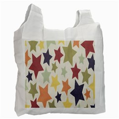Star Colorful Surface Recycle Bag (one Side) by Simbadda