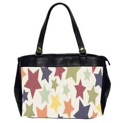 Star Colorful Surface Office Handbags (2 Sides)  by Simbadda