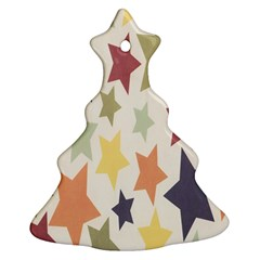 Star Colorful Surface Christmas Tree Ornament (two Sides) by Simbadda