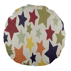 Star Colorful Surface Large 18  Premium Round Cushions by Simbadda