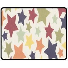 Star Colorful Surface Double Sided Fleece Blanket (medium)  by Simbadda