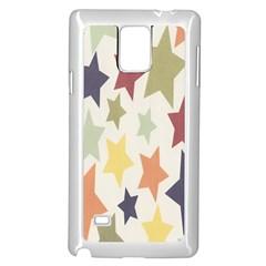 Star Colorful Surface Samsung Galaxy Note 4 Case (white) by Simbadda