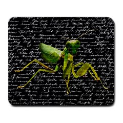 Mantis Large Mousepads by Valentinaart