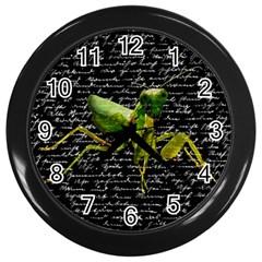 Mantis Wall Clocks (black) by Valentinaart