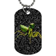 Mantis Dog Tag (two Sides) by Valentinaart