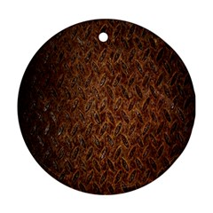 Texture Background Rust Surface Shape Ornament (round) by Simbadda