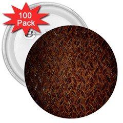 Texture Background Rust Surface Shape 3  Buttons (100 Pack)  by Simbadda