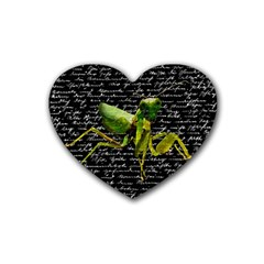 Mantis Heart Coaster (4 Pack)  by Valentinaart
