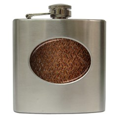 Texture Background Rust Surface Shape Hip Flask (6 Oz) by Simbadda