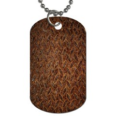 Texture Background Rust Surface Shape Dog Tag (two Sides) by Simbadda