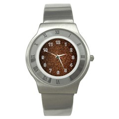 Texture Background Rust Surface Shape Stainless Steel Watch by Simbadda