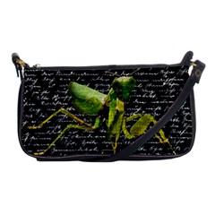 Mantis Shoulder Clutch Bags by Valentinaart