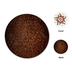Texture Background Rust Surface Shape Playing Cards (round)  by Simbadda