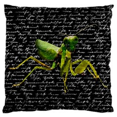 Mantis Large Cushion Case (two Sides) by Valentinaart