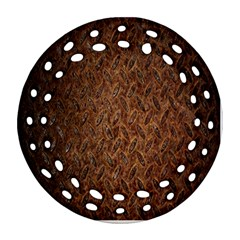 Texture Background Rust Surface Shape Round Filigree Ornament (two Sides) by Simbadda