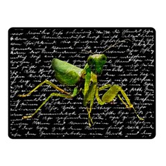 Mantis Double Sided Fleece Blanket (small)  by Valentinaart