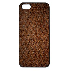 Texture Background Rust Surface Shape Apple Iphone 5 Seamless Case (black) by Simbadda