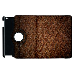 Texture Background Rust Surface Shape Apple Ipad 3/4 Flip 360 Case by Simbadda