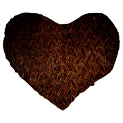 Texture Background Rust Surface Shape Large 19  Premium Heart Shape Cushions by Simbadda
