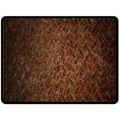 Texture Background Rust Surface Shape Double Sided Fleece Blanket (large)  by Simbadda