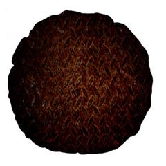 Texture Background Rust Surface Shape Large 18  Premium Flano Round Cushions by Simbadda