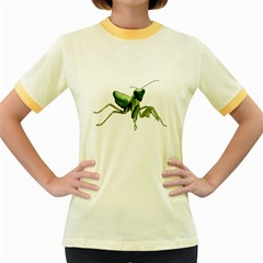 Mantis Women s Fitted Ringer T Shirts by Valentinaart
