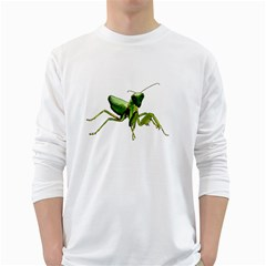 Mantis White Long Sleeve T Shirts by Valentinaart