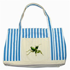 Mantis Striped Blue Tote Bag by Valentinaart
