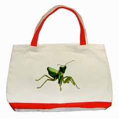 Mantis Classic Tote Bag (red) by Valentinaart