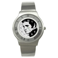 Elvis Stainless Steel Watch by Valentinaart