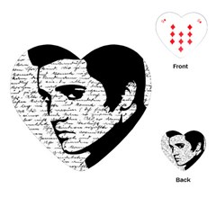 Elvis Playing Cards (heart)  by Valentinaart