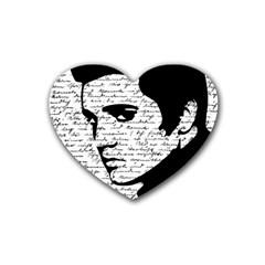 Elvis Rubber Coaster (heart)  by Valentinaart