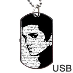 Elvis Dog Tag Usb Flash (two Sides) by Valentinaart
