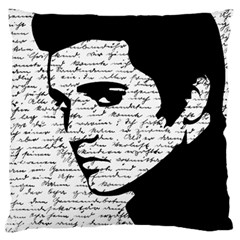 Elvis Large Cushion Case (one Side) by Valentinaart
