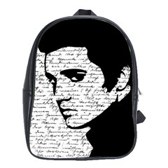 Elvis School Bags (xl)  by Valentinaart