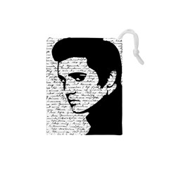 Elvis Drawstring Pouches (small)  by Valentinaart