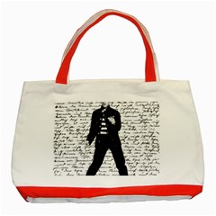 Elvis Classic Tote Bag (red) by Valentinaart