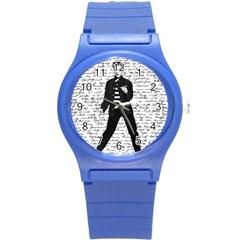 Elvis Round Plastic Sport Watch (s) by Valentinaart