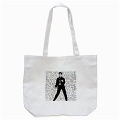 Elvis Tote Bag (white) by Valentinaart
