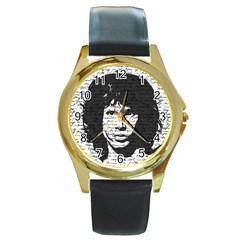 Morrison Round Gold Metal Watch by Valentinaart