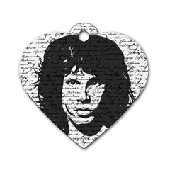Morrison Dog Tag Heart (two Sides) by Valentinaart