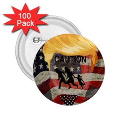 Caution 2 25  Buttons (100 Pack)  by Valentinaart