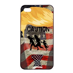 Caution Apple Iphone 4/4s Seamless Case (black) by Valentinaart
