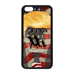 Caution Apple Iphone 5c Seamless Case (black) by Valentinaart
