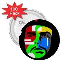 Che Guevara 2 25  Buttons (100 Pack)  by Valentinaart